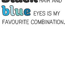 Magnus Bane: Blue Eyes and Black Hair by ffiorentini