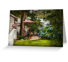 Flower - Westfield, NJ - Private paradise Greeting Card