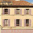 Purple shutters - Arles, Provence by Mandy Gwan
