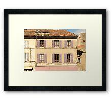 Purple shutters - Arles, Provence Framed Print