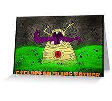 Cyclopean Slime Bather Greeting Card