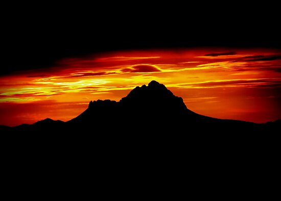 Sunset Peak Over Shadowed by Kimberly Chadwick