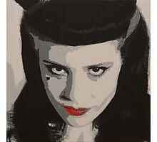 Acrylic Painting of Kate Nash Photographic Print