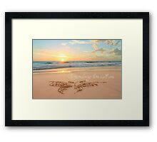 Remembering Him With You Framed Print