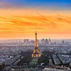 paris sunset by Andrew-Thomas