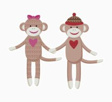 Sock Monkey Wedding Couple by JessDesigns