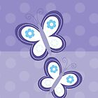 Purple Dot Butterfly iPhone Case by JessDesigns