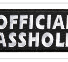 Official Asshole Sticker