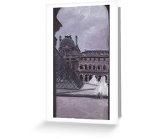 Peek out the Louvre Greeting Card