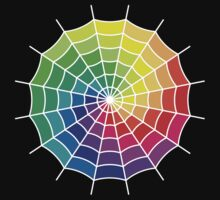 Spider Web - Color Spectrum Shift White by Jenny Zhang