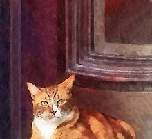 Cats - Orange Tabby in Doorway by Susan Savad