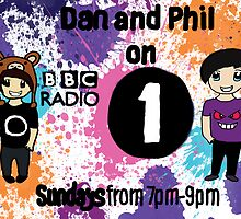 Amazingphil and Danisnotonfire Radio Poster by michawells