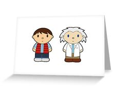 Cartoon Friends: Marty and Doc Greeting Card