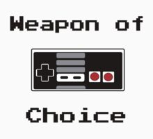 Old School Gamer Weapon of Choice Art by humanwurm