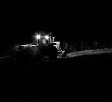 Farmer's Hours...Baling Hay At Midnight by trueblvr