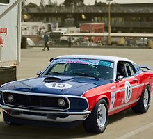 Red White and and Blue Mustang by Stuart Row
