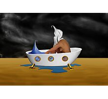 SURREALISM - Day Dreaming Bath Photographic Print