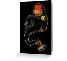 Jack 'O Rapper - Prints, Stickers, iPhone & iPad Cases Greeting Card