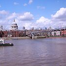 The Thames view over millenium bridge by Arvind Singh