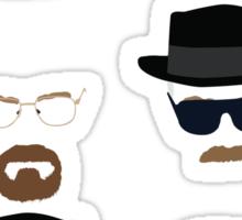 Walter White / Heisenberg (The Many Faces) - Breaking Bad 2 Sticker