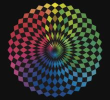 Spirograph - Color Spectrum Difference by Jenny Zhang