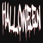 Halloween text T-shirt by Dennis Melling