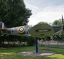 Gate Guardian at St George's RAF chapel Biggin Hill by Keith Larby