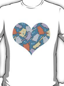 funny cartoon cats  T-Shirt