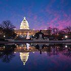 Washington DC United States Capitol Building Holiday Reflections by MarkVanDyke
