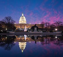 Washington DC United States Capitol Building Holiday Reflections by MarkVanDyke