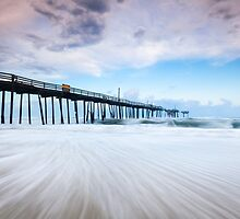 North Carolina OBX Cape Hatteras Broken Fishing Pier by MarkVanDyke