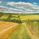 Farmland near Cowden Hill by Susan Duffey