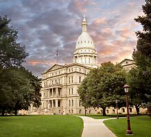 Michigan State Capital by Mike Sonnenberg