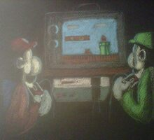 mario and luigi playing mario bros by jeffaz81