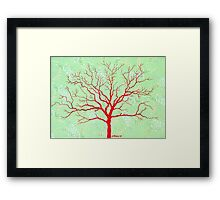 TREE ON DESIGN PAPER Framed Print