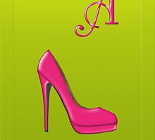 Stylish pink shoe for her Monogram A by Monartcanadian