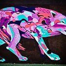 Psychedelic Graffiti art Wolf by yurix