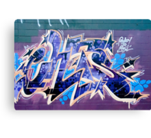 Abstract Graffiti Art fragment  Canvas Print