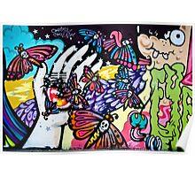 Hallucinogenic Graffiti Art.Back to sixties Poster