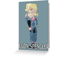 Egon Spengler (The Real Ghostbusters) Greeting Card