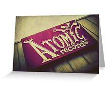 Atomic Records Vintage Sign Greeting Card