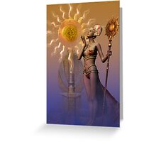 tribal time keeper Greeting Card