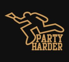 PARTY HARDER! with dead coroner murder outline and a beer glass by jazzydevil