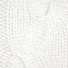 White Cable Knit Pattern by CaseBase