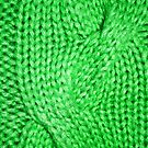 Green Cable Knit Pattern by CaseBase