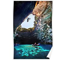 Boat ride in Melissani cave-lake Poster