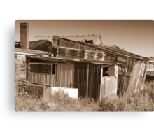Tin Shed Canvas Print