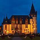 Klink Castle Hotel at dusk, Müritz Lake, Mecklenburg-Western Pomerania, Germany, Europe. by David A. L. Davies