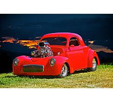 1941 'Blown' Willys Coupe Photographic Print