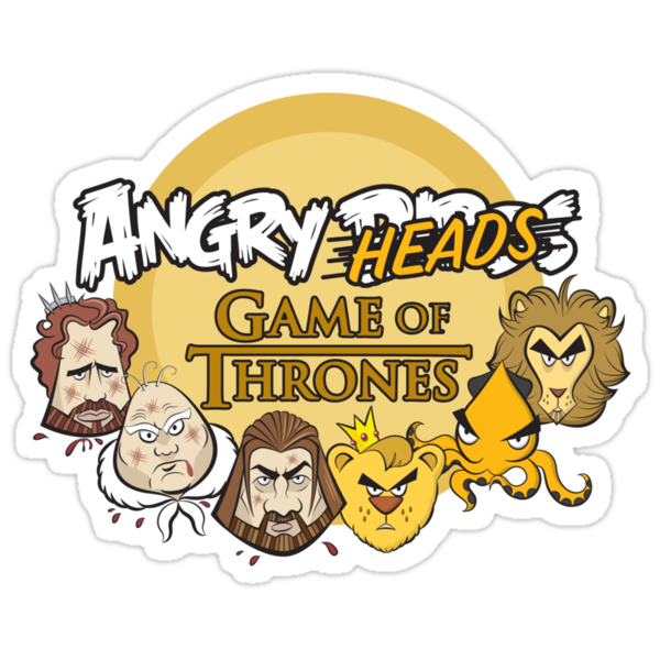 Angry Heads: Game of Thrones by JenSnow